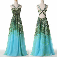 Gorgeous Halter Bridesmaids Dress Party Prom Gown Formal Evening LONG Masquerade