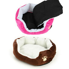 Pet Dog Puppy Cat Kitten Animal Fleece Bed Kennel Nest Medium Washable