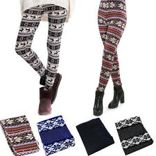 Autumn Lady's Sexy Skinny Colorful Print Leggings Stretchy Leggings Ninth Pants