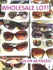 SUNGLASSES LOT WHOLESALE 24 OR 48 RHINESTONES, AVIATOR, DG, CAMO, WOMEN 2016
