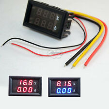 DC 0-100V Digital Panel Amp Volt Meter Red Blue LED Gauge Voltmeter Ammeter MET