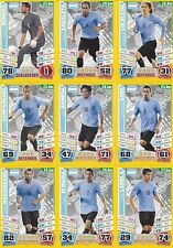 Match Attax England 2014 World Cup Trading Cards (ARGENTINA-Base) 3-13