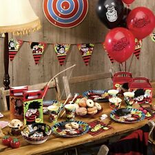 DENNIS THE MENACE BIRTHDAY PARTY TABLEWARE PLATES CUPS NAPKINS BOWLS BALLOONS