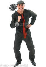 Disney Mens Bert the Chimney Sweep Victorian Fancy Dress Costume Outfit STD & XL