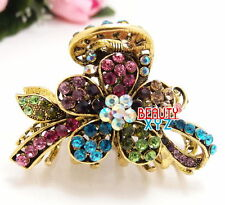 New Fancy Crystal Metal Hair Claws Clips Pin flowers design for girl and woman