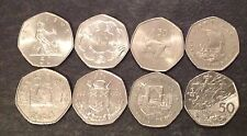 Selection of Large Old Style 50p Coins 1969 to 1997 - British Fifty Pence - UNC