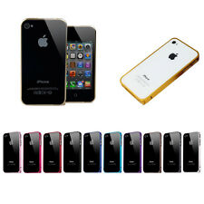 Aluminium Metal Steel Hard Skin Case Cover Bumper Protector For Apple iPhone 4S