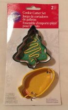 Wilton 2 Piece Cookie Cutter Set Christmas Holidays Fun Baking Pastry Delicious