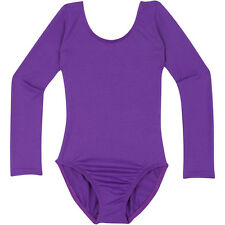 PURPLE Long Sleeve Leotard for Toddler & Girls