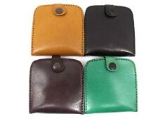 UNISEX HIGH QUALITY GENUINE LEATHER COIN TRAY PURSE POUCH WALLET NOTES