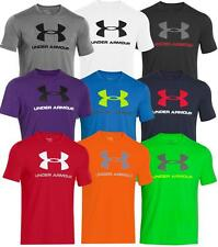Under Armour Mens Charged Cotton Sportstyle Logo Tee Training Top T-Shirt 2015