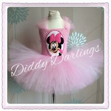 MINNIE Mouse Tutu Vestito Rosa Minnie Mouse DRESS PARTY COSTUME NATALE Play