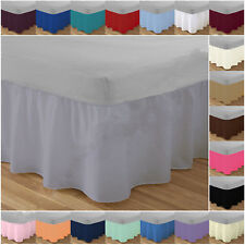 Poly Cotton Plain Dyed Frilled Platform Base Valance Sheet Available in 4 Sizes