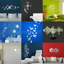 DIY Decal Modern Crystal Mirror Removable Wall Sticker Mural Room Interior Decor