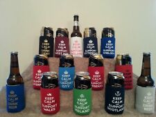 Keep Calm Bottle and Can Cooler Various Football Clubs and Designs B2G1 FREE!