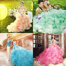 NEW Train Wedding Dresses Prom Party Quinceanera Pageant Ball Gown Photo Studio