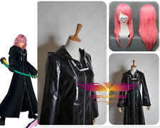 Kingdom Hearts 2 Organization XIII Black Long Coat Cosplay Costumes With Wig