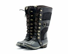 SOREL BOOTS CONQUEST CARLY WATERPROOF BLACK STYLE 1530881010