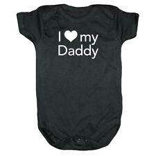I LOVE MY DADDY One Piece Infant Baby Dad Gift Clothes Funny Onsie Shirt 3-12mo