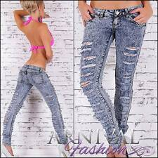 NEW DESTROYED SKINNY JEANS 6 8 10 12 14 RIP DENIM PANTS FOR LADIES jean hotpants