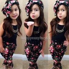 Sweet Cute Baby Girl Kids Cute Tops + Pants + Headband Clothes Set Suit Outfits