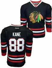 Youth Chicago Blackhawks Patrick Kane #88 Premier Black Jersey NHL Stitched