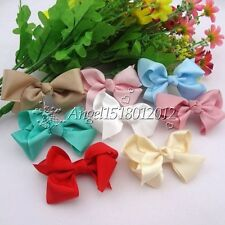 20/100pc Grosgrain Flowers Bows Appliques Crafts Wedding Sewing Decorations A021