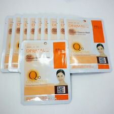 [Dermal]No8. Q10 Collagen Essence Face Mask Sheet Pack 23gx14Pcs+1Pcs Free Gift