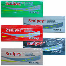 Sculpey III - Oven Bake Polymer Clay - Large 454gm Blocks (5 colors)
