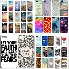 New Painted Various Cute Pattern Hard Phone Back Case Cover for iPhone 5 5S 5C 6