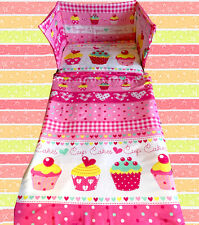 Girls Bedding Set Cupcakes Hot Pink - All Sizes Available