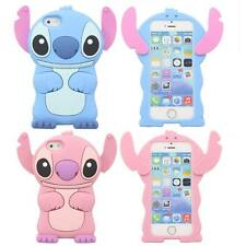 3D Cute Cartoon Stitch Soft Silicone Rubber Skin Case Cover for iPhone 5 5G 5S