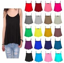 Ladies Womens Strappy Sleeveless CAMI SWING VEST camisole top plus size 8-26 lot