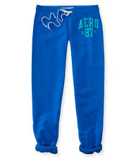 aeropostale womens aero ny87 classic cinch fleece sweatpants