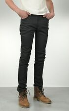 NUDIE JEANS THIN FINN DRY BLACK COATED