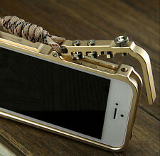 Luxury Aluminum Metal Button Hard Cleave Frame Bumper Case Cover For iPhone 5 5S