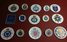BRITISH POLICE SERVICE SILVER PLATED  BADGES + FREE `POLICE`  PHONE STICKER