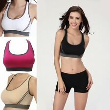 Women's Bra Top Athletic Vest Gym Fitness Sports Stretch Bras Yoga Tops S M L