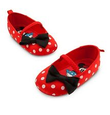 Disney Store Minnie Mouse Red Baby Costume Shoes Size 6-12 12-18 18-24 Months