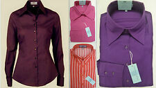 Womens Shirt Blouse HAWES & CURTIS Luxury Cotton Smart Formal Office Business