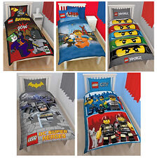Lego Ninjago Eyes City Heroes Panel Single Bed Duvet Quilt Cover Brand New Set