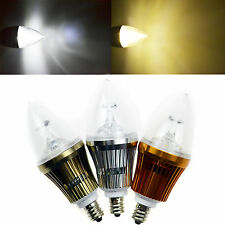 Dimmable E12 6W LED High Power Chandelier Candle Light Bulb Lamp Cool Warm White