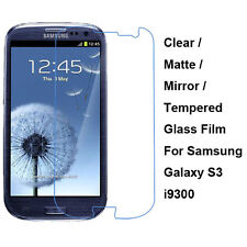 Tempered Glass/Clear/Matte/Mirror Screen Protector For Samsung Galaxy S3 i9300