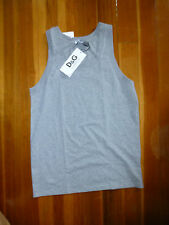 NWT NEW MENS SZ  XS , S DOLCE & GABBANA  TANK TOP UNDERSHIRT GREY BLACK