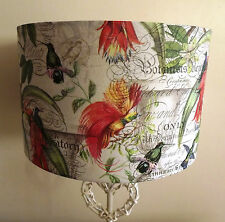 Birds of Paradise Botanical lampshade kitchen french country script shabby chic