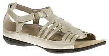Hush Puppies Women's Eaby Strappy Open Toe Leather Sandal Platinum HSS1135-043