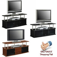 TV Stand with 3 Cabinets for up to 50 Convenience Concepts Designs2Go Cherry