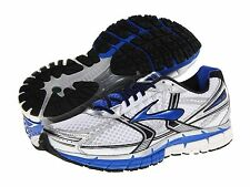 Brooks Men's Adrenaline GTS 14 Running Shoes White Blue  NEW All sizes
