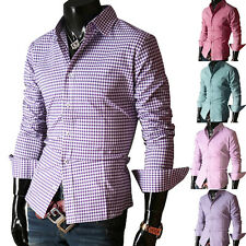 LUXURY New Long Sleeve Formal Dress Shirts Casual Shirt Mens Slim Fit DISCOUNT Y