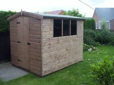 GARDEN SHED in Tanalised Shiplap   -   From £260